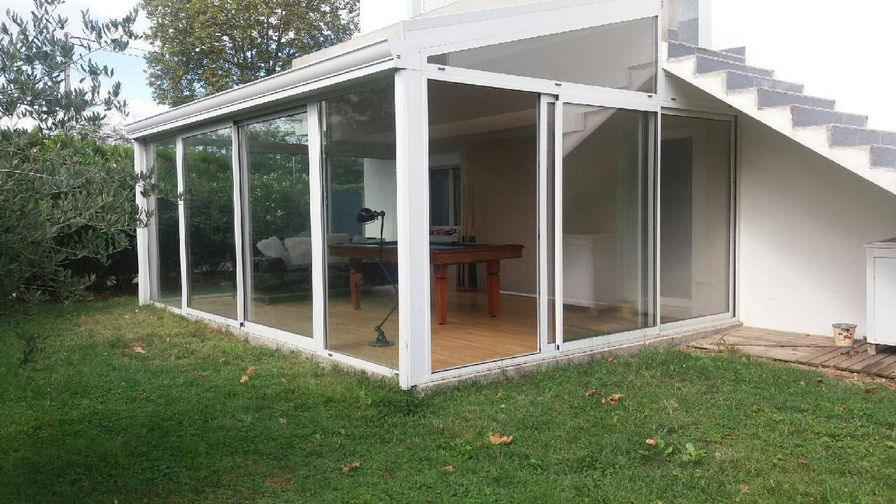 Création d'une véranda en aluminium sur Martres-Tolosane (31220) - Eco Fenêtres
