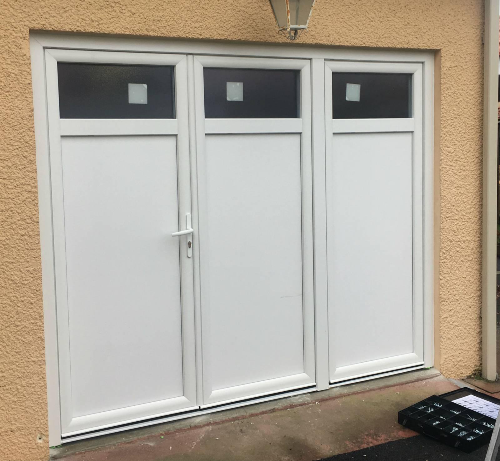 Remplacement Dune Porte De Garage Par Une Porte Fenêtre 3 Vantaux